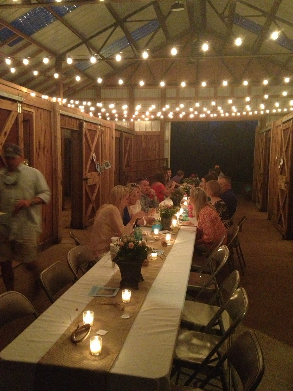 My friend Amy's 40th Surprise Birthday party in the Barn
