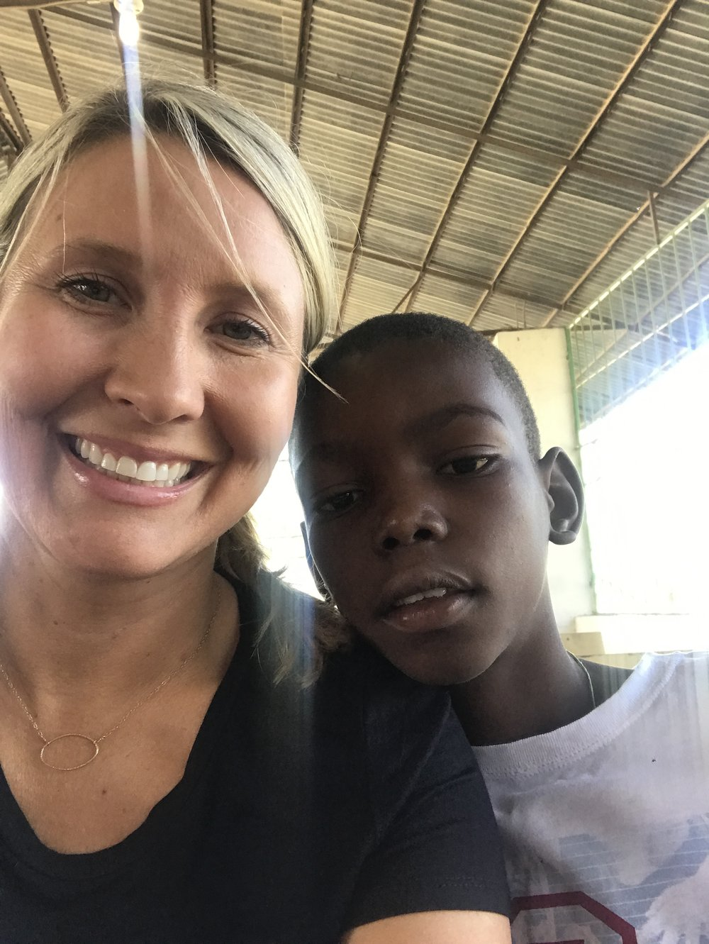 The little Haitian boy who friended me before church