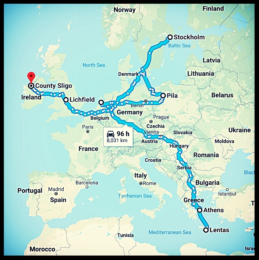 MG EuroTour 2018 map