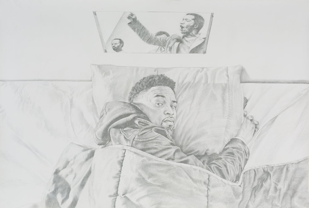 Stay Woke, 2017  Mario Moore, Silverpoint on Prepared Paper