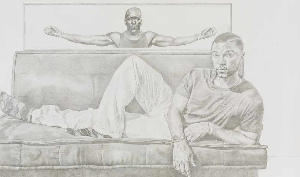 Can't the New Negro Relax, 2017   Mario Moore, Silverpoint on Prepared Paper