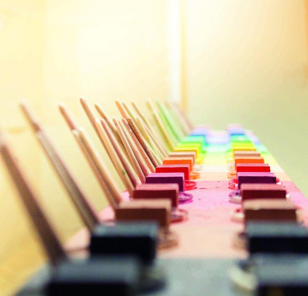 Die Farbpalette steht in jedem Malort. (c) Iris Kagerer