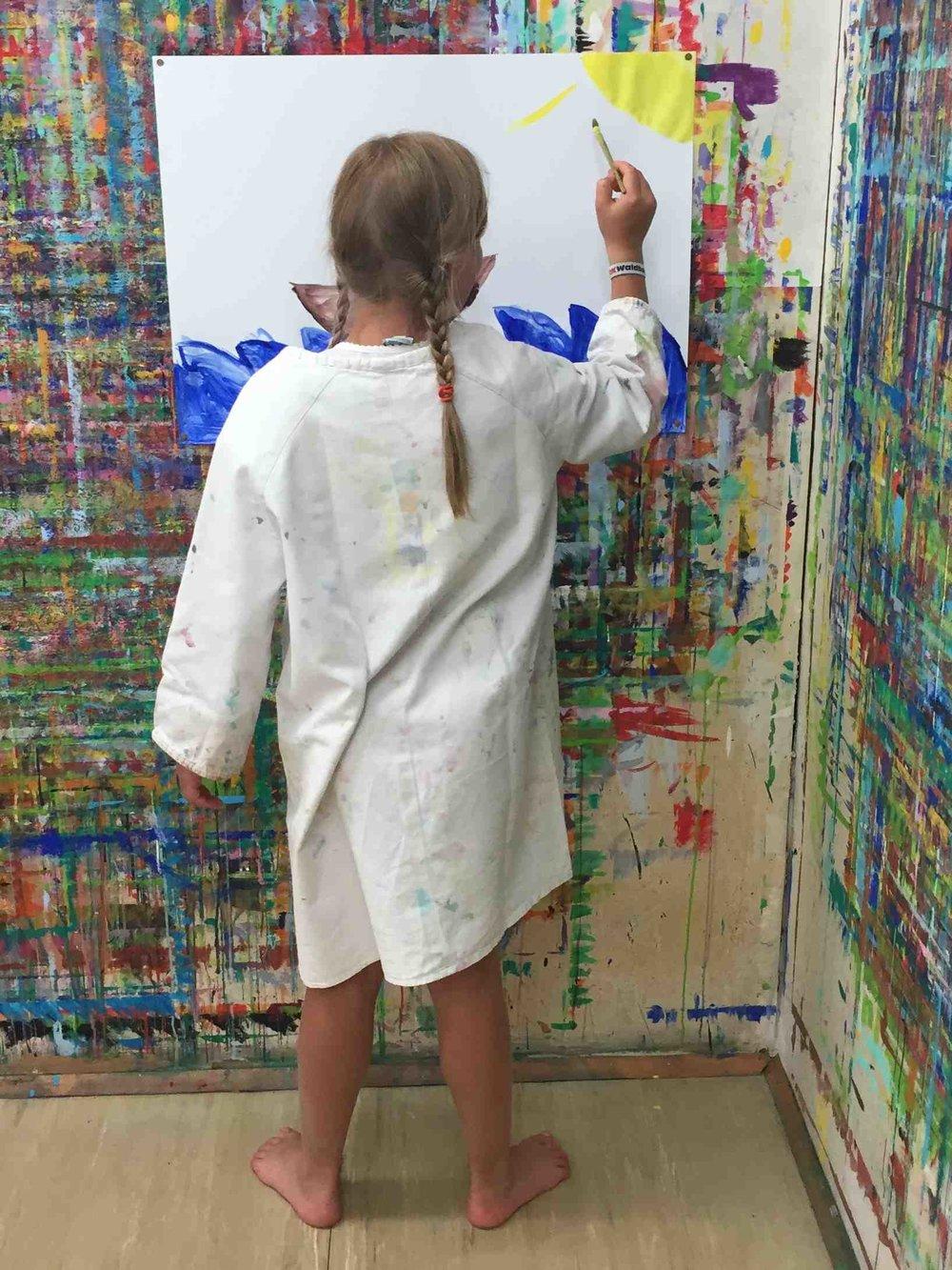 Jeder, er im Malort malt, hinterlässt Spuren an der Wand.
