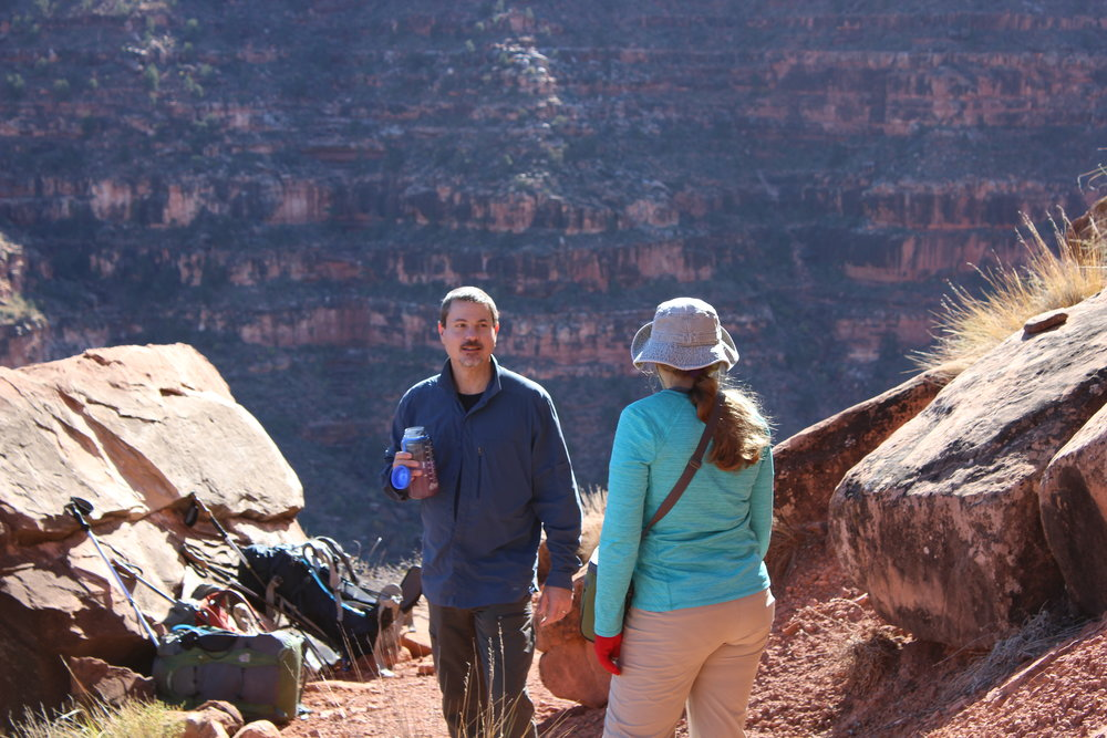 Todd and Stacy taking a break in the Supai.