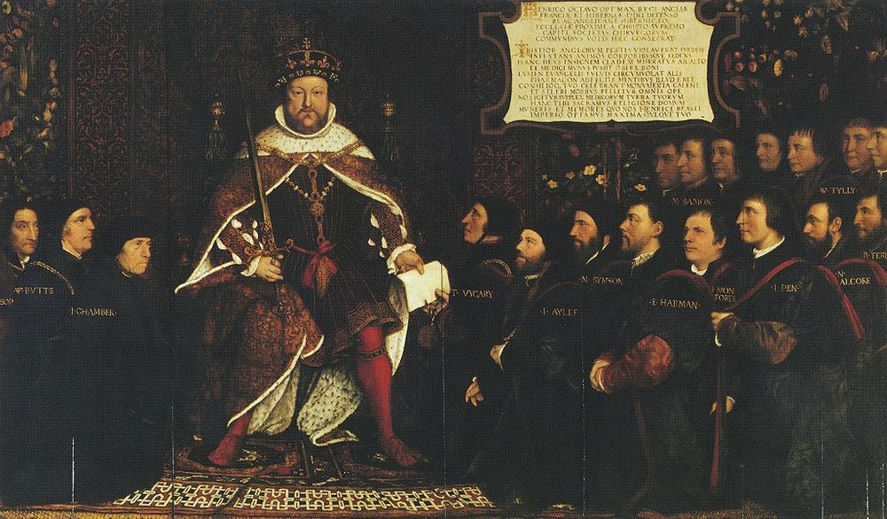 Henry VIII and the Barber Surgeons.    Image Courtesy of Wikimedia Commons