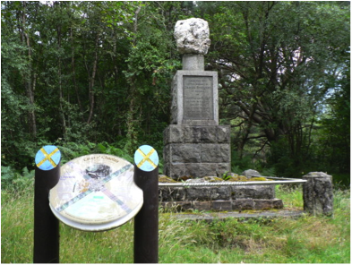 'Ballachulish James Stewart Memorial', taken in 2008. Image sourced from Wikimedia Commons.