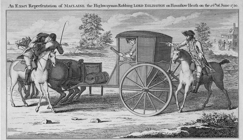 Charles Mosley, An Exact Representation of Maclaine, the Highwayman. Etching and engraving. Image courtesy of British Museum. Reproduced under Creative Commons Licence