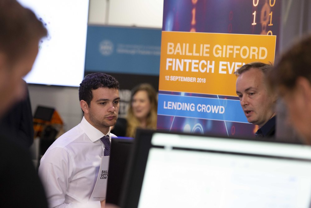Business people at Baillie Gifford Fintech Event