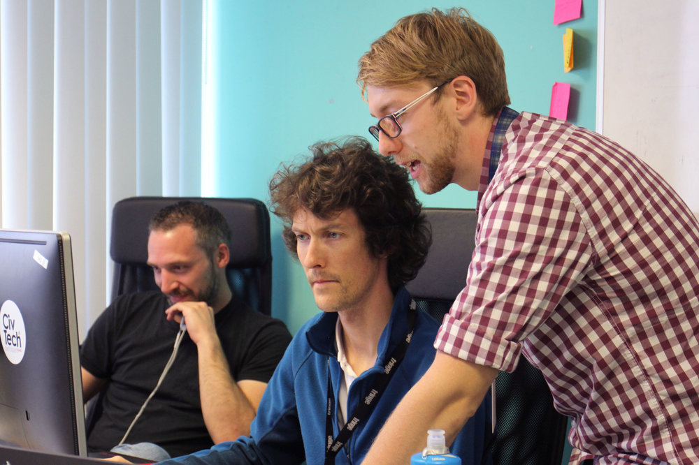 Developers Matthew Jeorrett and Chris Hunter Working at Wallet.Services