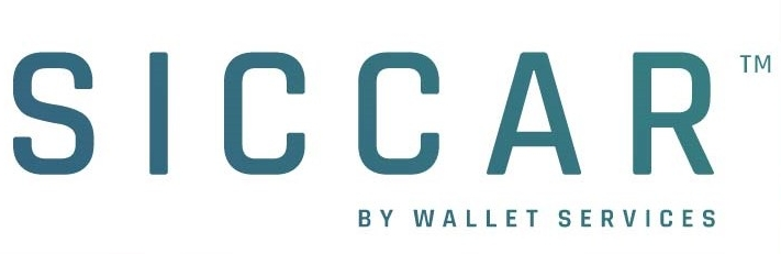 "Interconnected pentagon and ""SICCAR by Wallet.Services"" wordmark."
