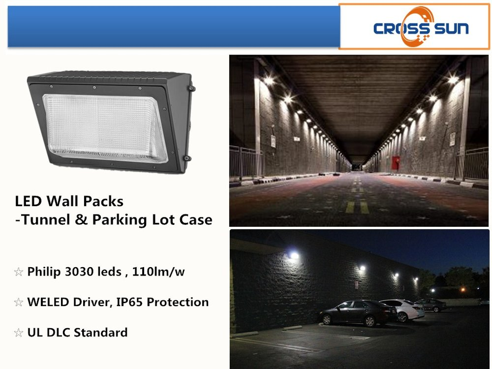 100W LED wall packs widely used in outdoor applications