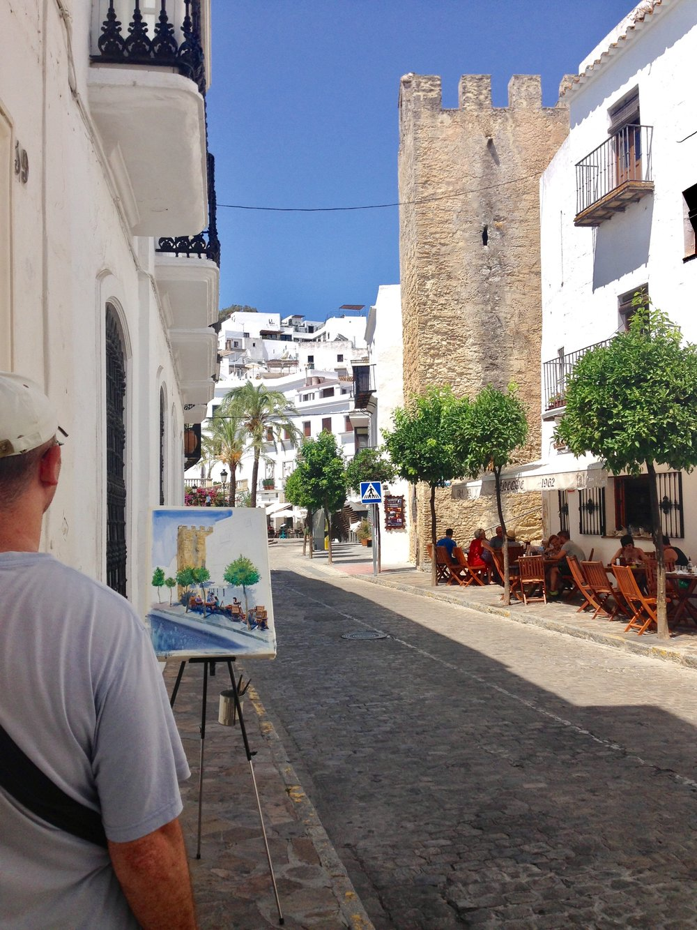 This artist spent the whole day painting his view. Unspoiled by tourism yet, Vejer is a quiet town, making it a perfect spot for artists.