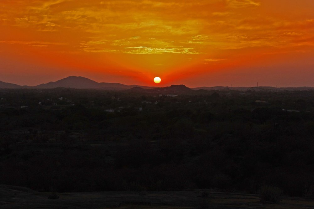 Sunset from Anjana Fort