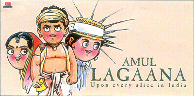The dairy cooperative Amul's advertisements are known to interpret pop-culture phenomena. This is one that mimicks the  Lagaan  poster.   Courtesy: Amul India