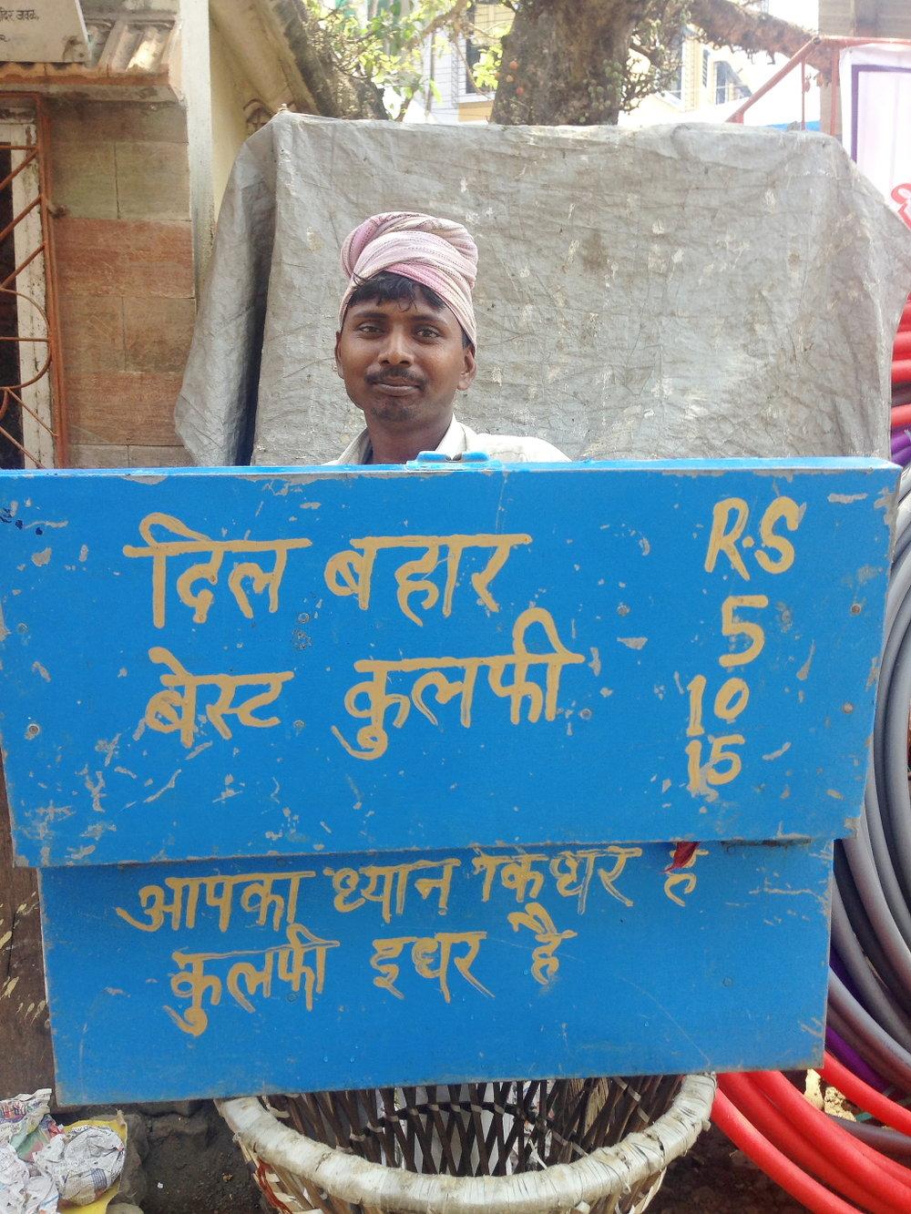 The man who pockets all our pocket money in summer. Khar-Danda, Mumbai