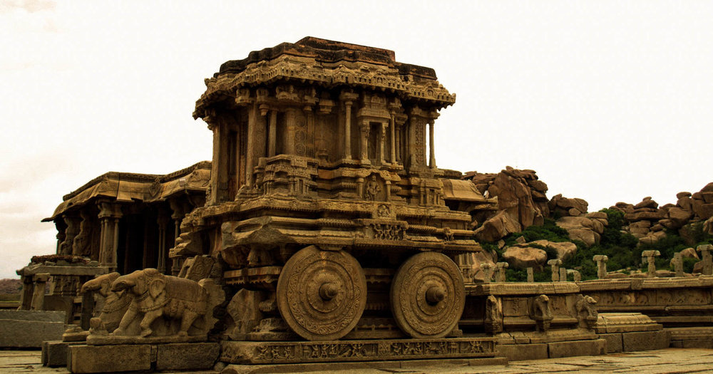 The Stone Chariot, one the three famous stone chariots in India