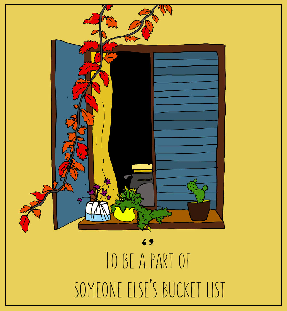 Her bucket list , by Monjira Sen for TLJ