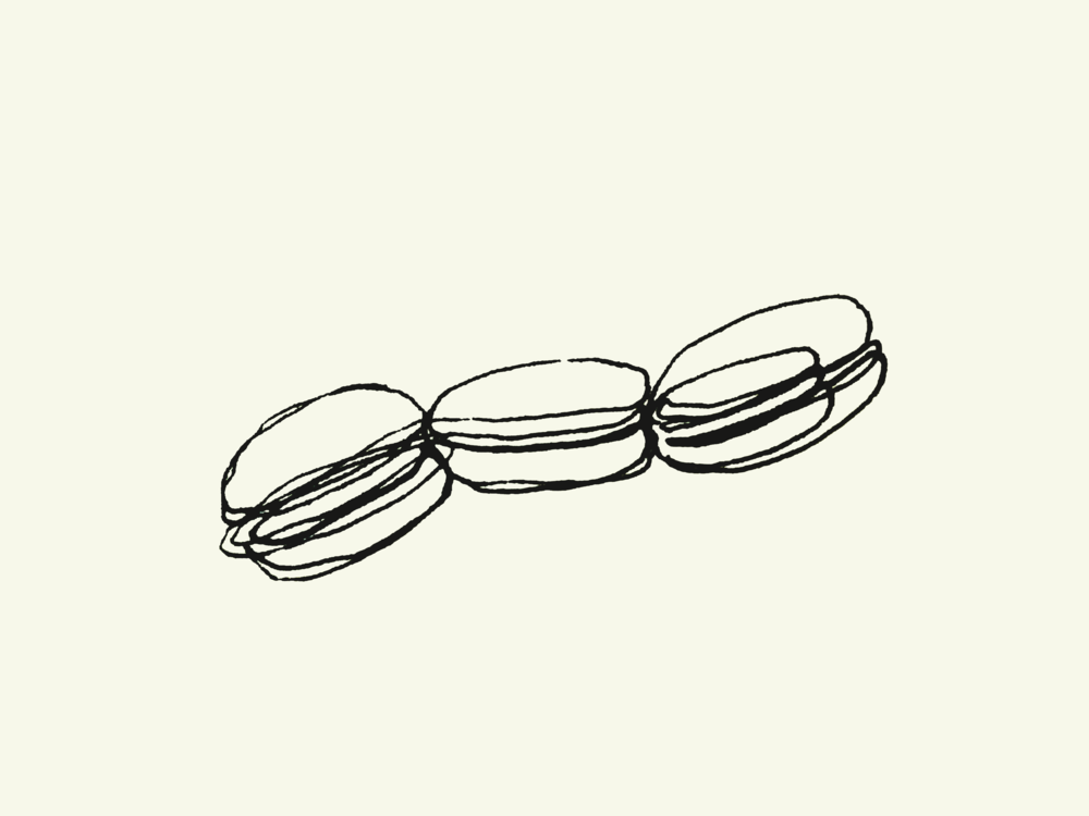 Three Macarons,  by Javed Imthiaz for TLJ