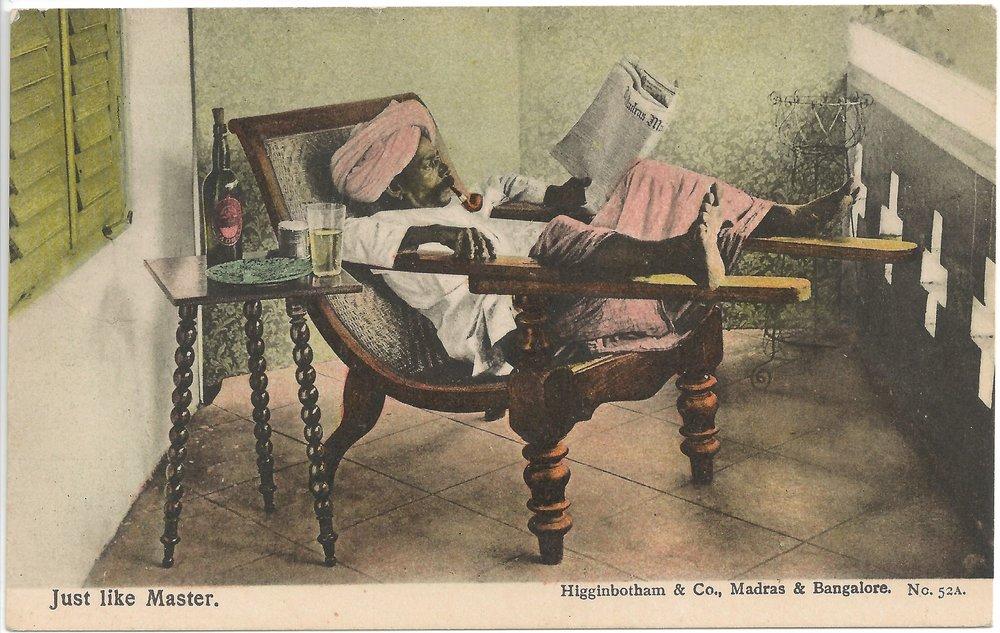 """Just Like Master"". Published by Higginbotham & Co., Madras & Bangalore. Early 20th century."