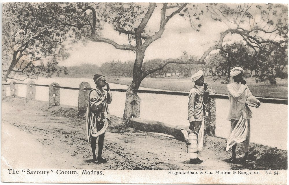 """The 'Savoury' Cooum, Madras"". Published by Higginbotham & Co., Madras & Bangalore. Posted on: 30.02.1909."