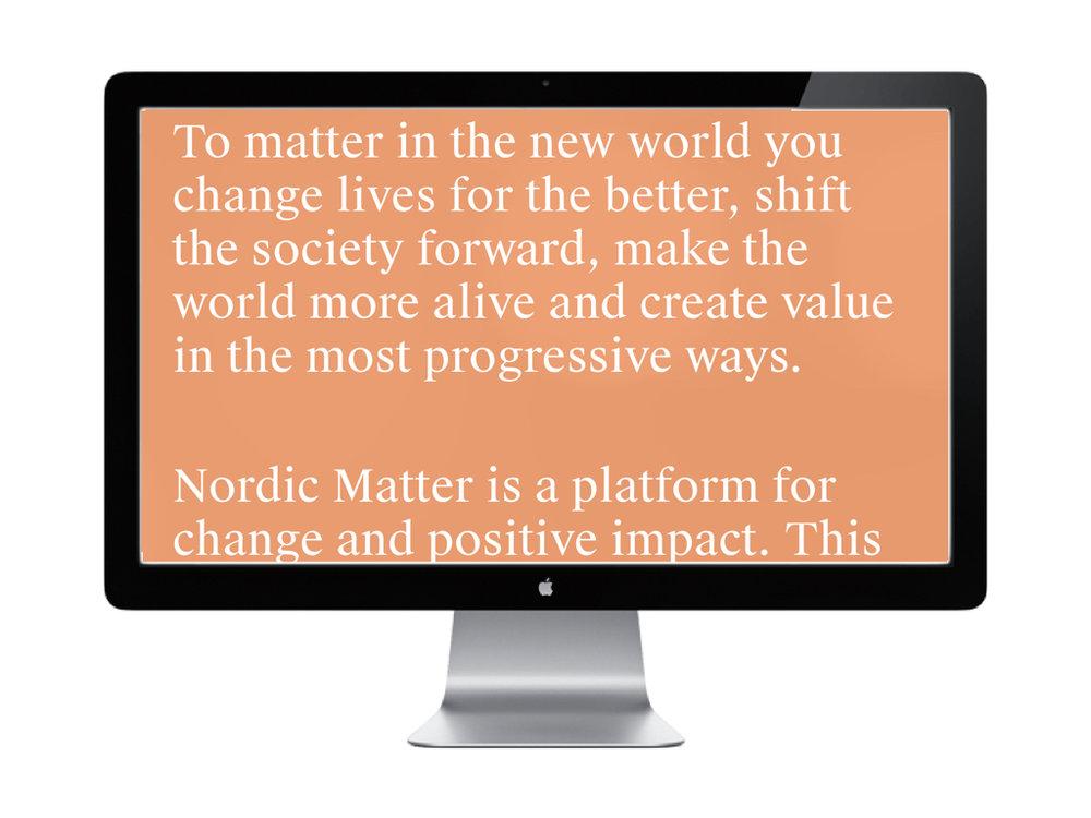 PLATFORM - Nordic Matter