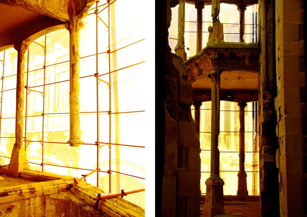 At the basis of this research is the convinction that the life of a building is not confined to the time span within which the building conservces the shape and function it was initially designed for but should extend its use through its dereliction to its assumed death, continuing through new functions and interventions to be experienced as architecture until its final disappearance.