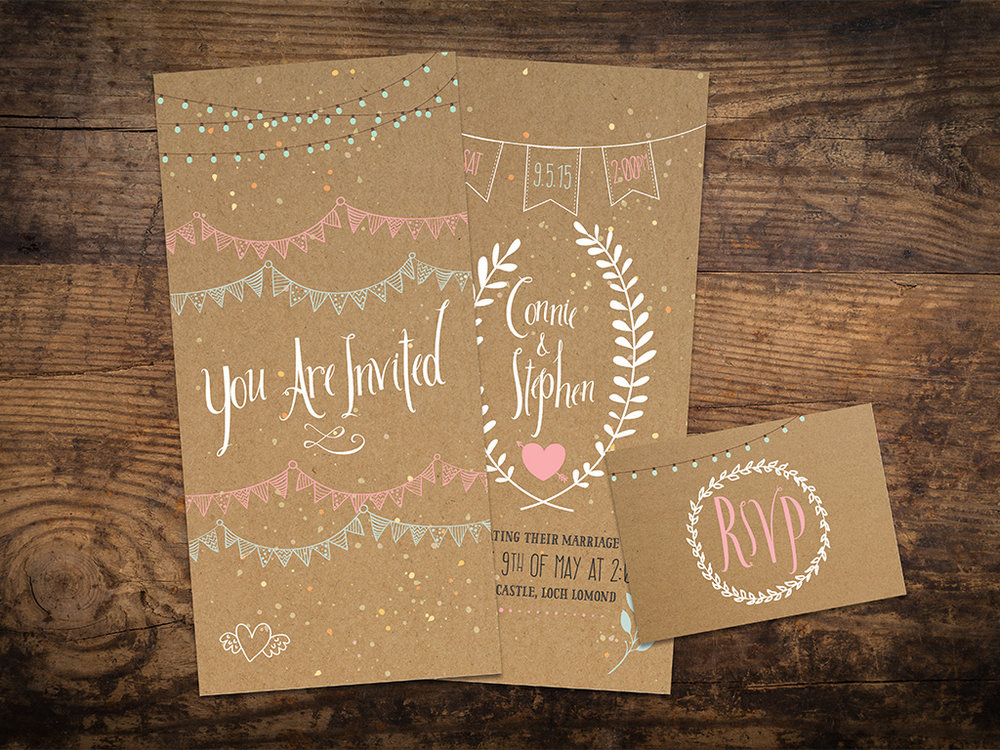 Bunting Wedding Invitations Love Weddings