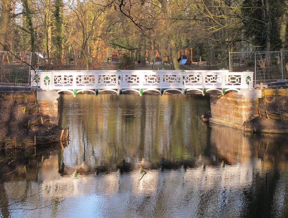 Restauratie brug Boekenbergpark - Deurne
