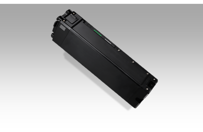 To meet MTB specific needs, the E-8000 series was designed with all day performance in mind. The capacity of the Ion-Lithium battery has been increased to 500WH and can now be recharged in only 5 hours. The new design features a lower profile specifically for mountain bikes which improves both impact and vibration resistance.  The battery pack offers:  36V of nominal voltage  Durability of more than 1000 cycles  Removable battery