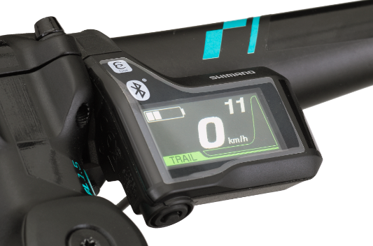 The new color display comes in a compact size and is therefore nicely integrated on the handlebar. While the display features full connectivity with Shimano Di2 components it also allows for individual settings for the information shown. The switch has been redesigned specifically for mountain bikes. Thanks to the ergonomic design improvements, the switch is now better integrated and offers a similar feel to a gear shifter.  Bluetooth connectivity