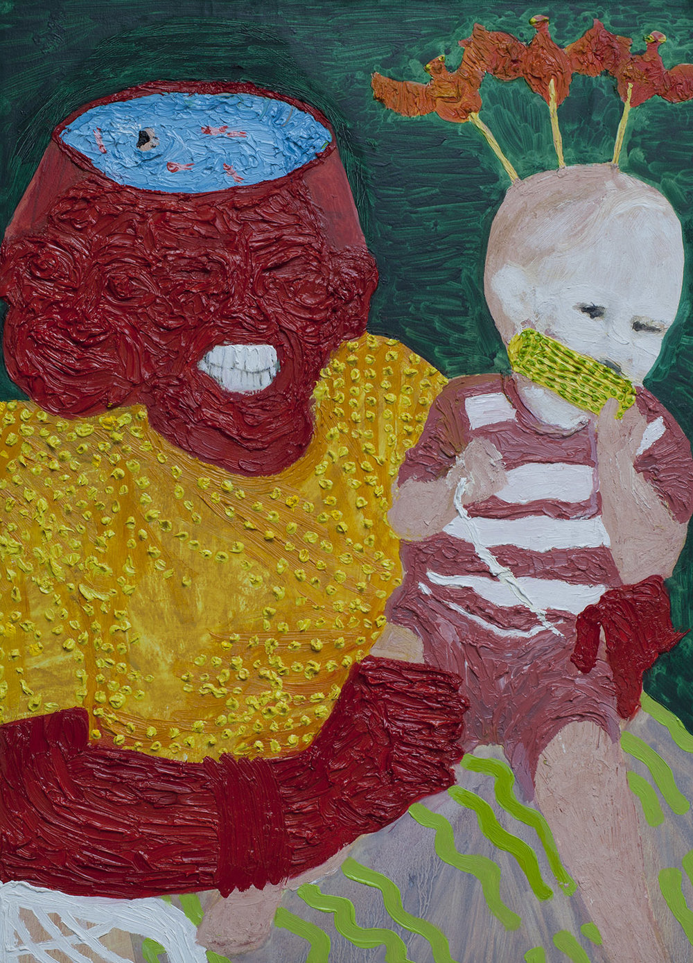 Mum and Me (2), 2014, Oil on paper, 47cm x 33cm, R5,000_1500.jpg