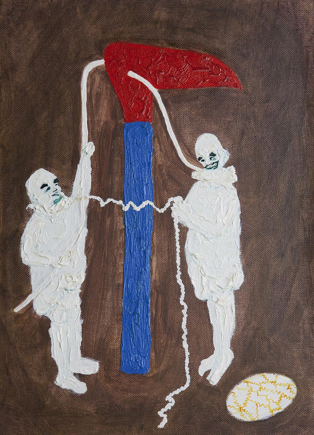 Jesters II, 2014, Oil on paper, 29x21cm, R3,000_1500.jpg