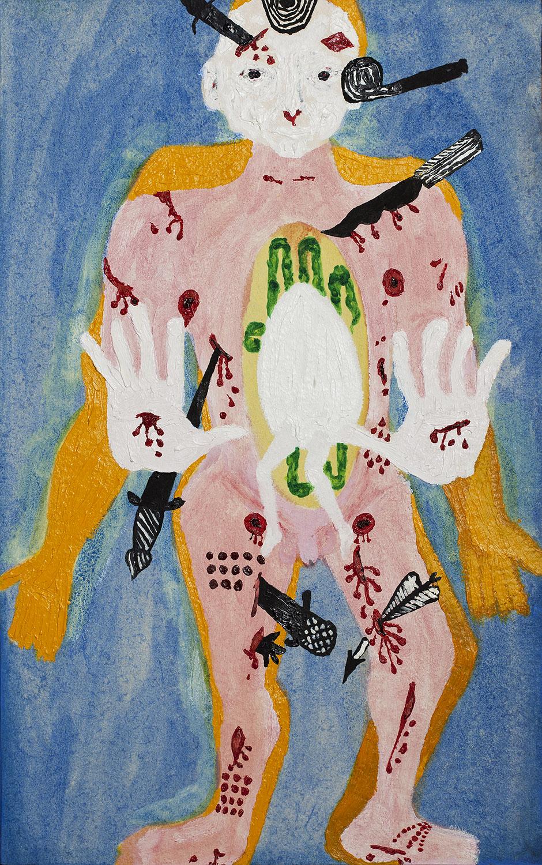 Martyr, 2014, Oil on paper, 63x39cm, R6,000_1500.jpg