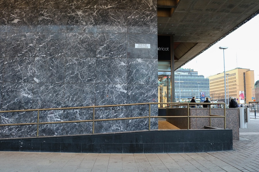 Aleksin kivi city center ii marmoriseinä