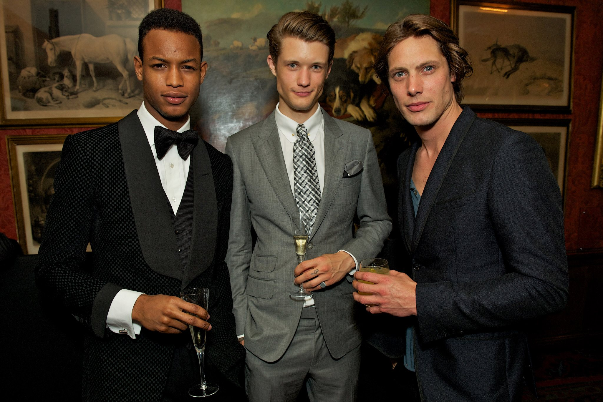 Conrad Bromfield, Fionn Macdiarmid and James Rousseau at the TOM FORD