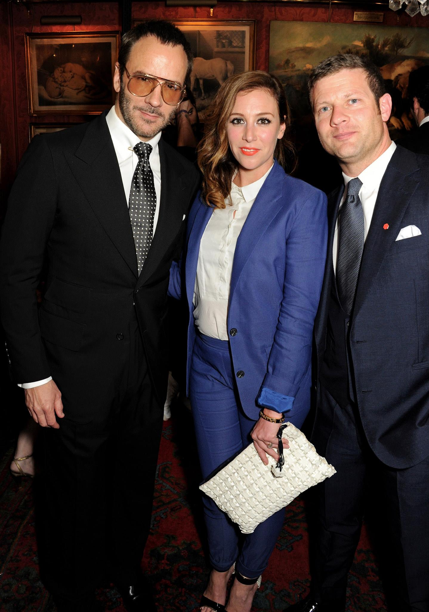 Tom Ford with Dee Koopang O'Leary and Dermot O'Leary