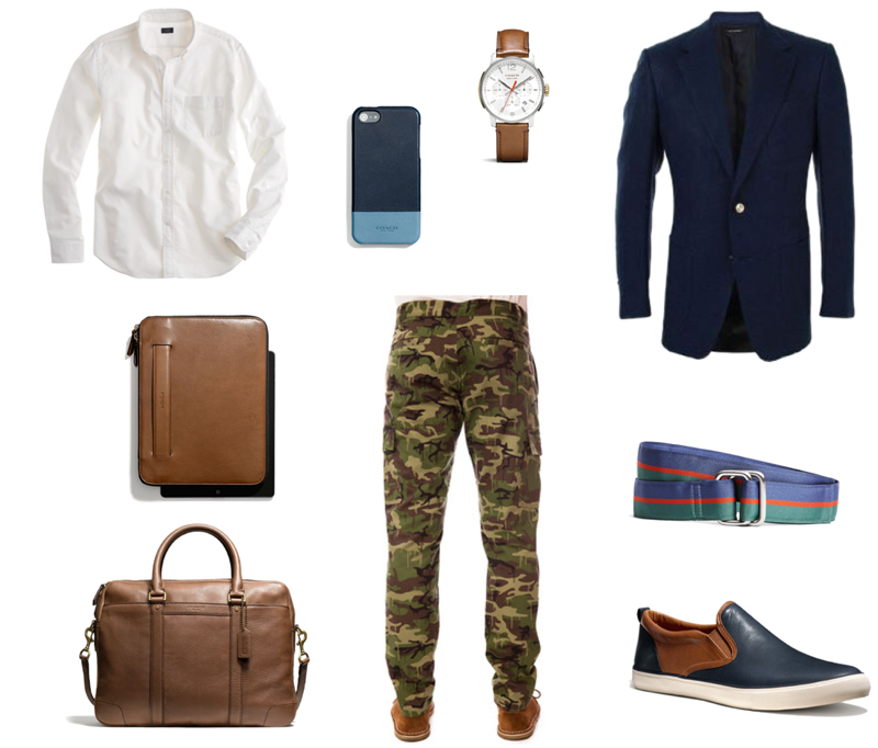 Navy blue military look man Lustin Style