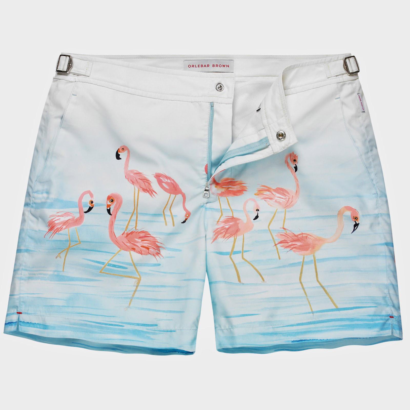 Orlebar Brown flamingo shorts Lustin Style