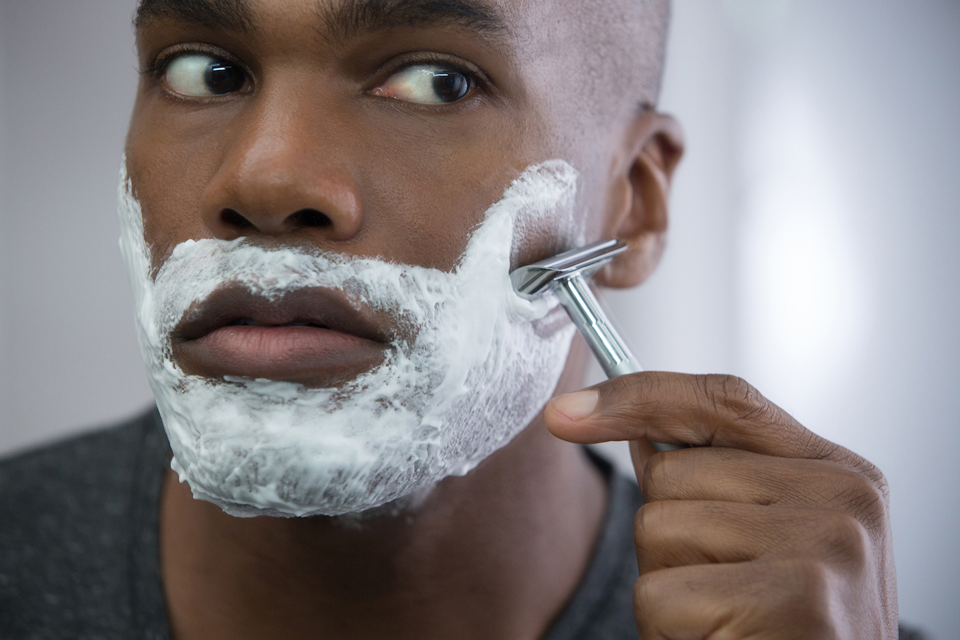 bearded men have cleaner faces than shaved men