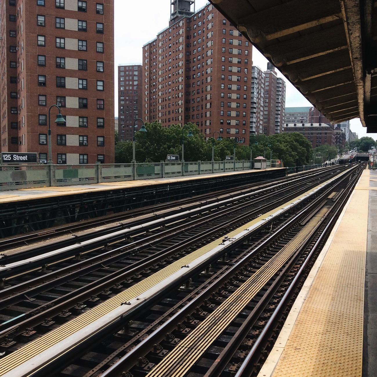 Subway station in Harlem, NYC