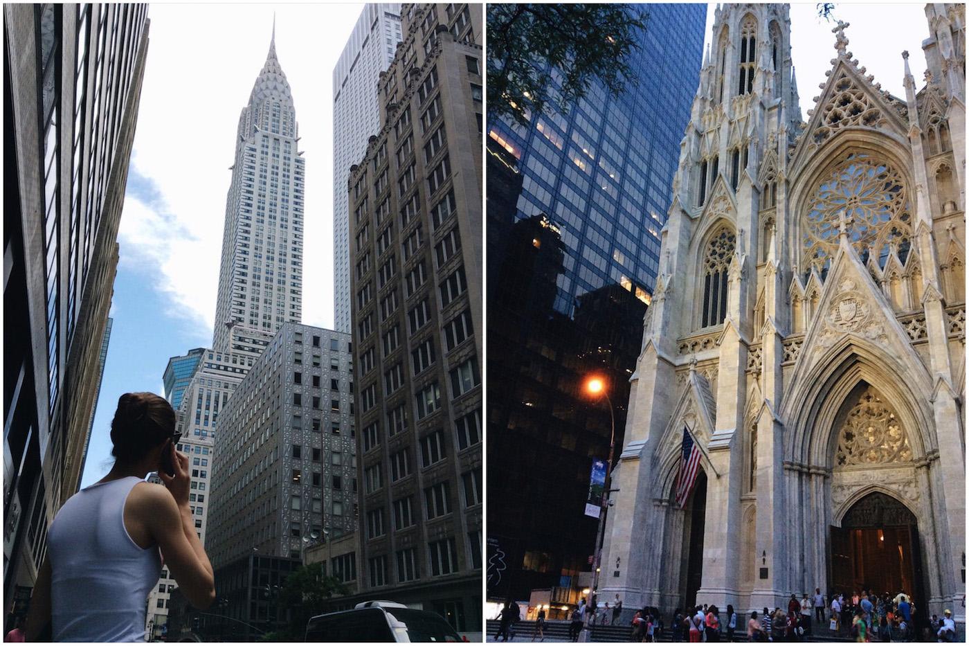 Chrysler Building, NYC | Saint Thomas Church, NYC