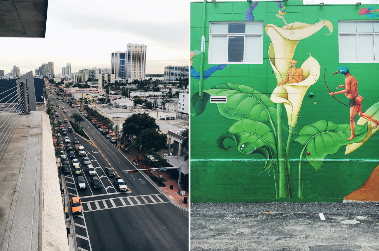 South Beach (left); Wynwood (right), Miami, Florida