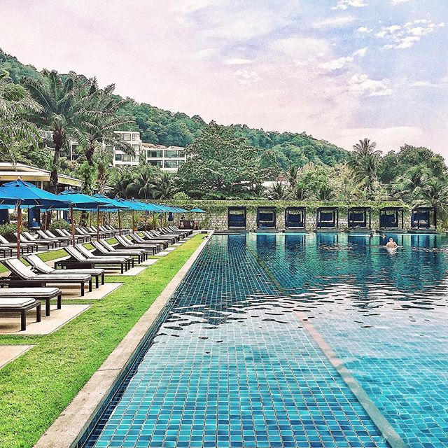 It was a great weekend in #Phuket. Managed to snap a pool pic with no people on the lounge chairs. @hyattregencyphuket @hyatt