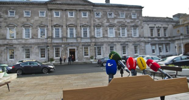 'They are frequently drunk in Leinster House, even during votes. The garb that befits this level of 'dignity' is an orange jumpsuit.' Photograph: Brenda Fitzsimons