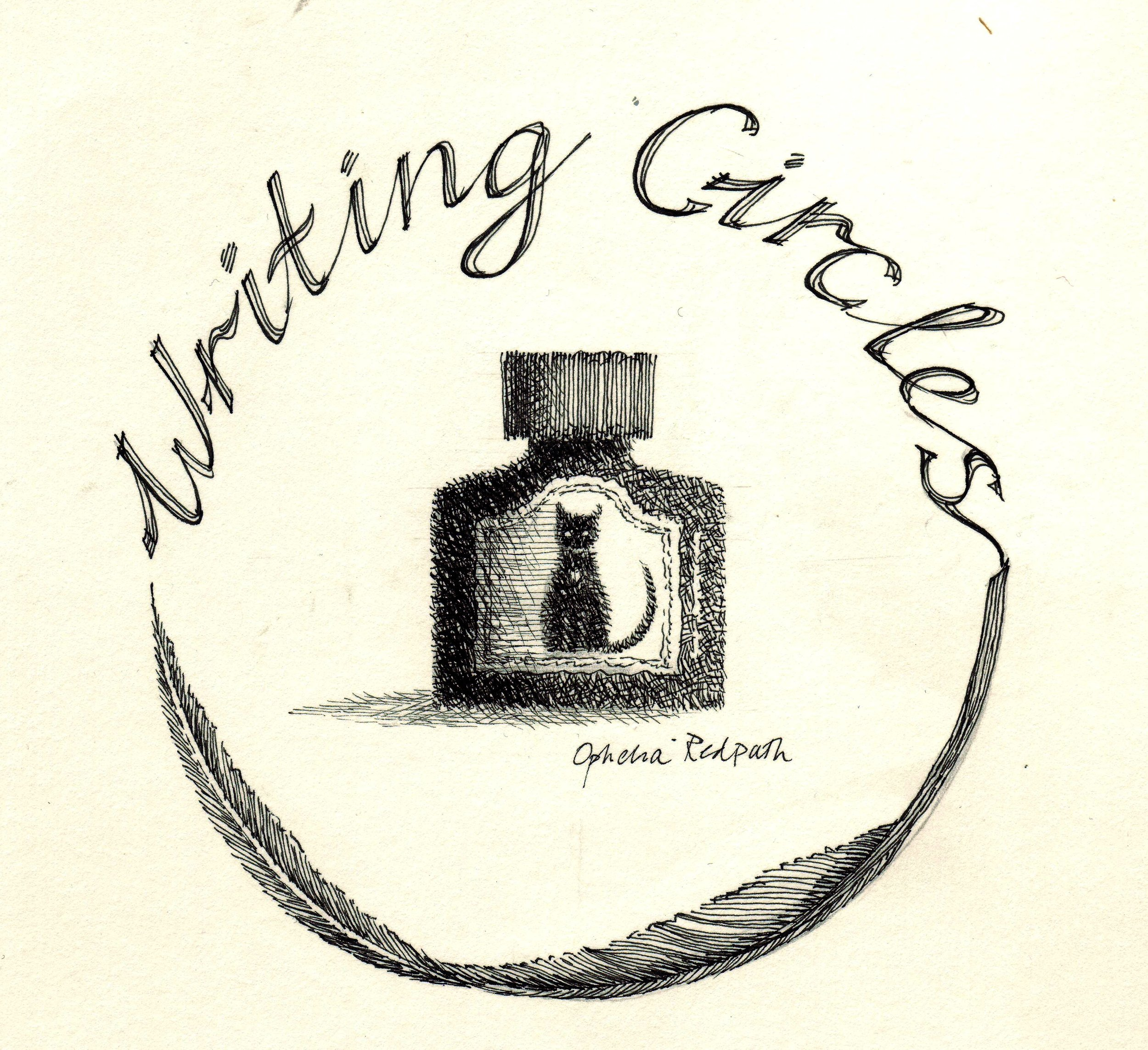 writing circles logo high contrast
