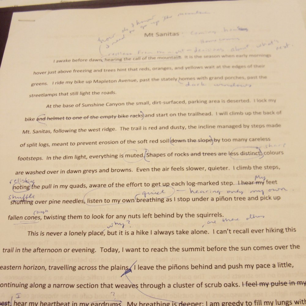 image of a writing draft