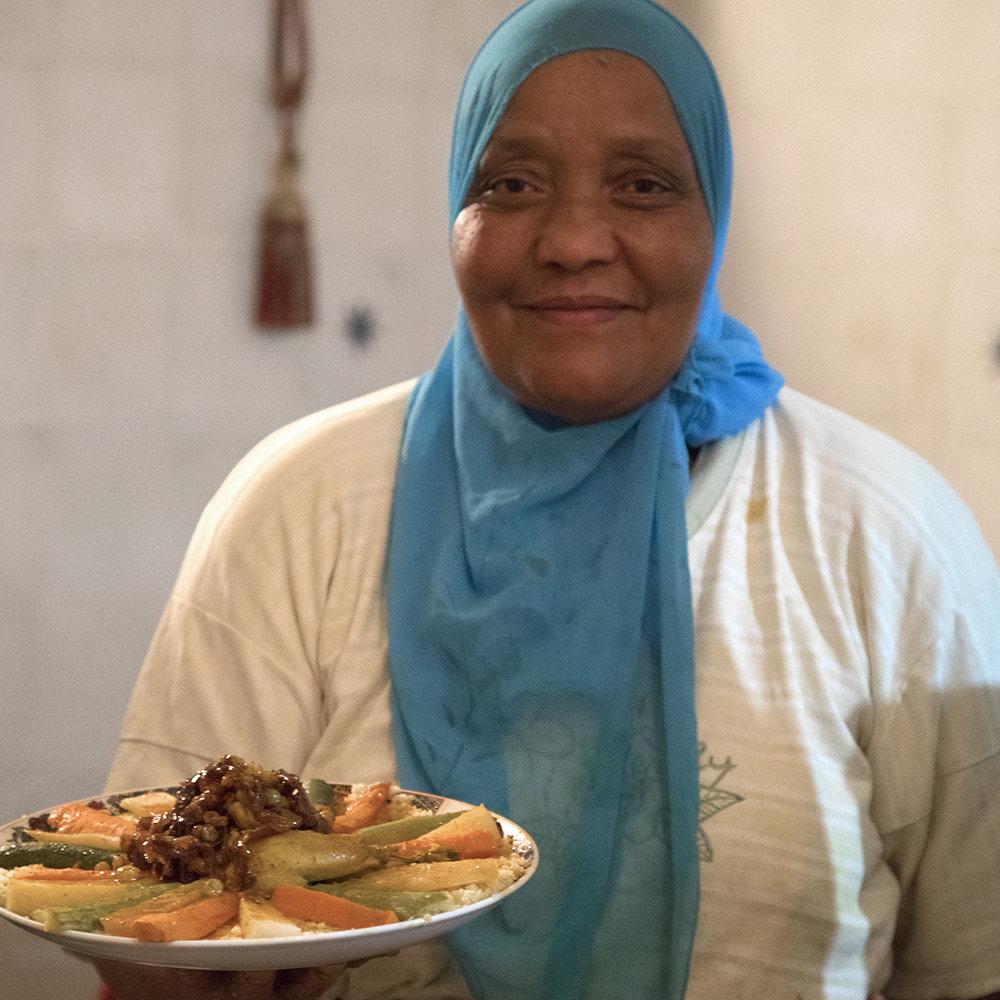 Couscous bij Naima.