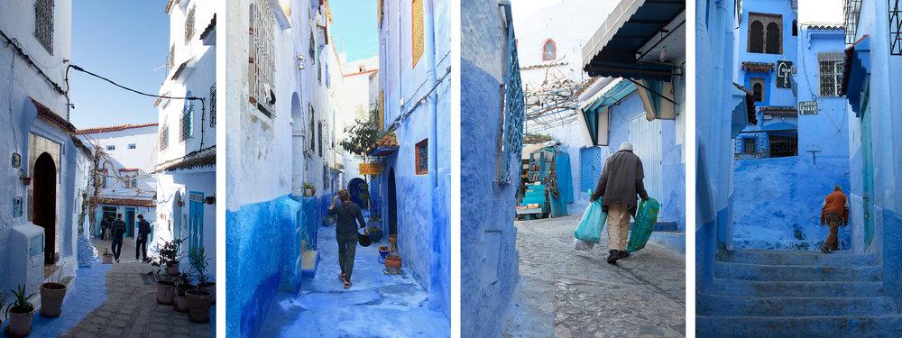 blauw in Chefchaouen