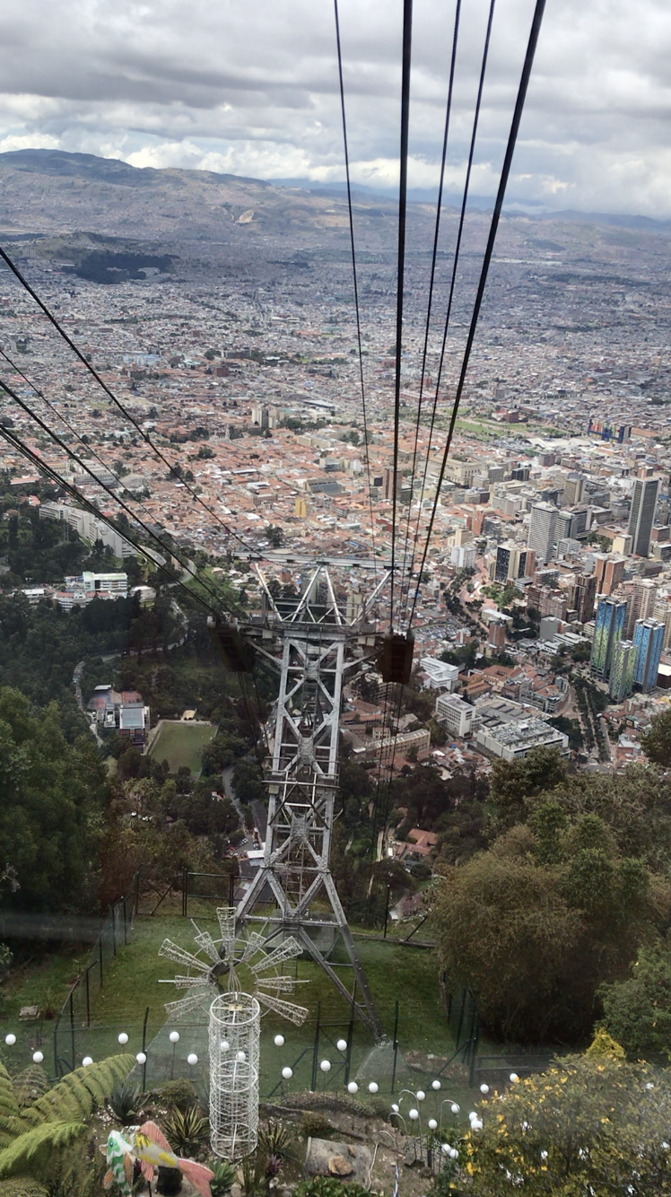 View of Bogotá from funicular up Monserrate