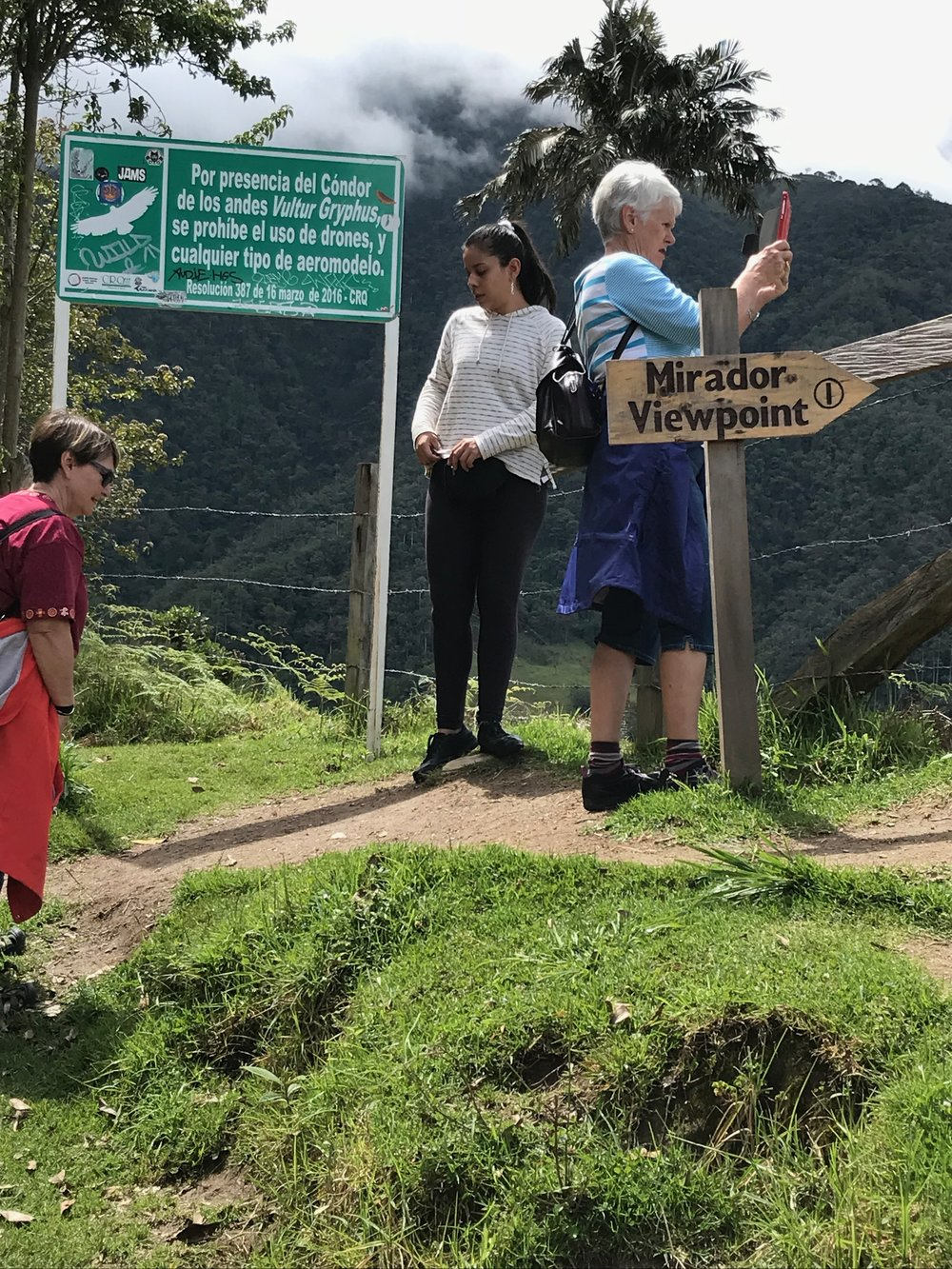 "Anjelica looking fresh and unfazed as we slogged up to Mirador 1 (we got as far up as Mirador 2 before Andrés cried ""uncle""! and turned us back down the mountain)"